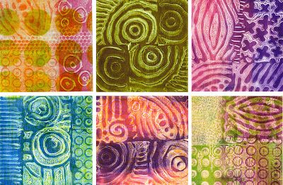 Gelli printed fabric created with MagicStamps -- Printing with Gelli: Gelli Printing — Techniques on Fabric ... and a Giveaway!!!