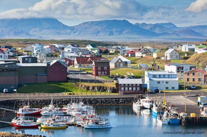 The quaint town of Stykkishólmur in the Western part of Iceland resembles a colourful painting!