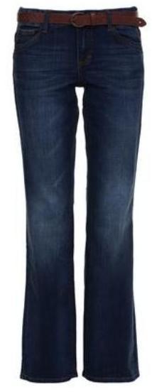 Jeans van Tom Tailor. Casual en met bruine riem.