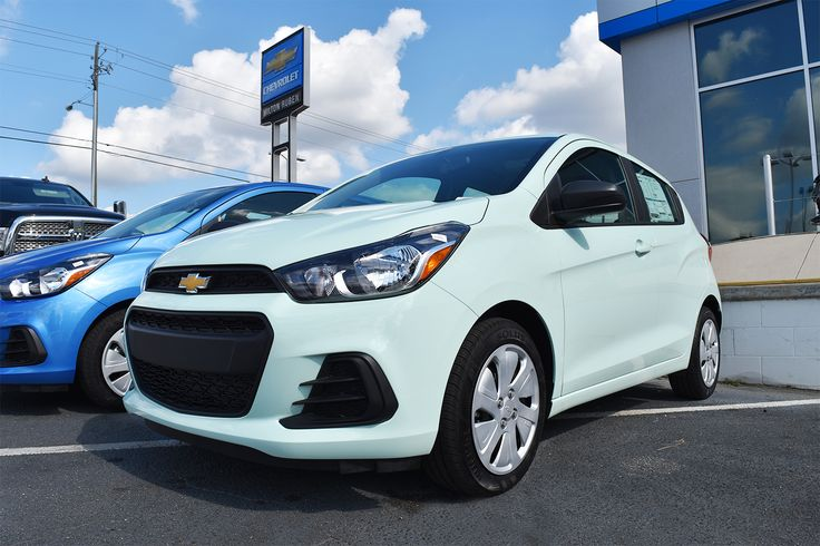 My boyfriend just got a 2017 Chevy Spark this exact color. This one looks just like his. The new color on the 2017 Chevy Spark was *mint* to be!