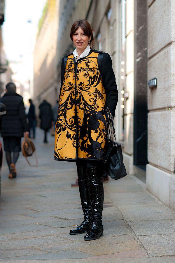 Italian Street Fashion | Italian Street Style – Via Della Spiga, Milan.