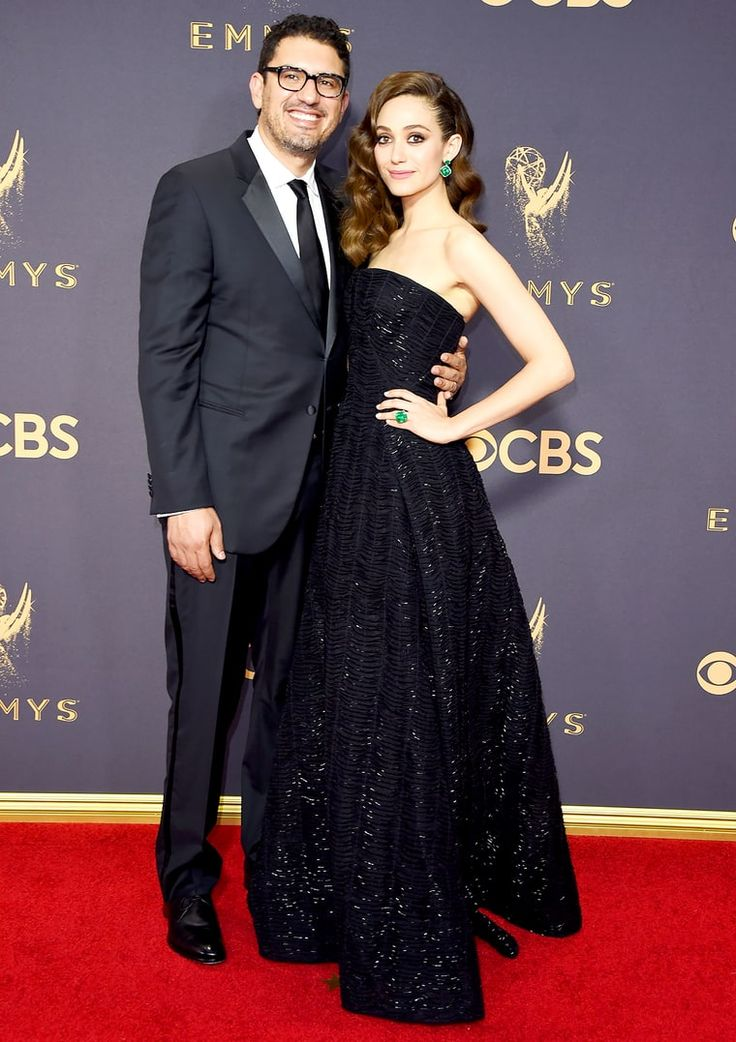 Sam Esmail and Emmy Rossum attend the 69th Annual Primetime Emmy Awards at Microsoft Theater on September 17, 2017 in Los Angeles, California.
