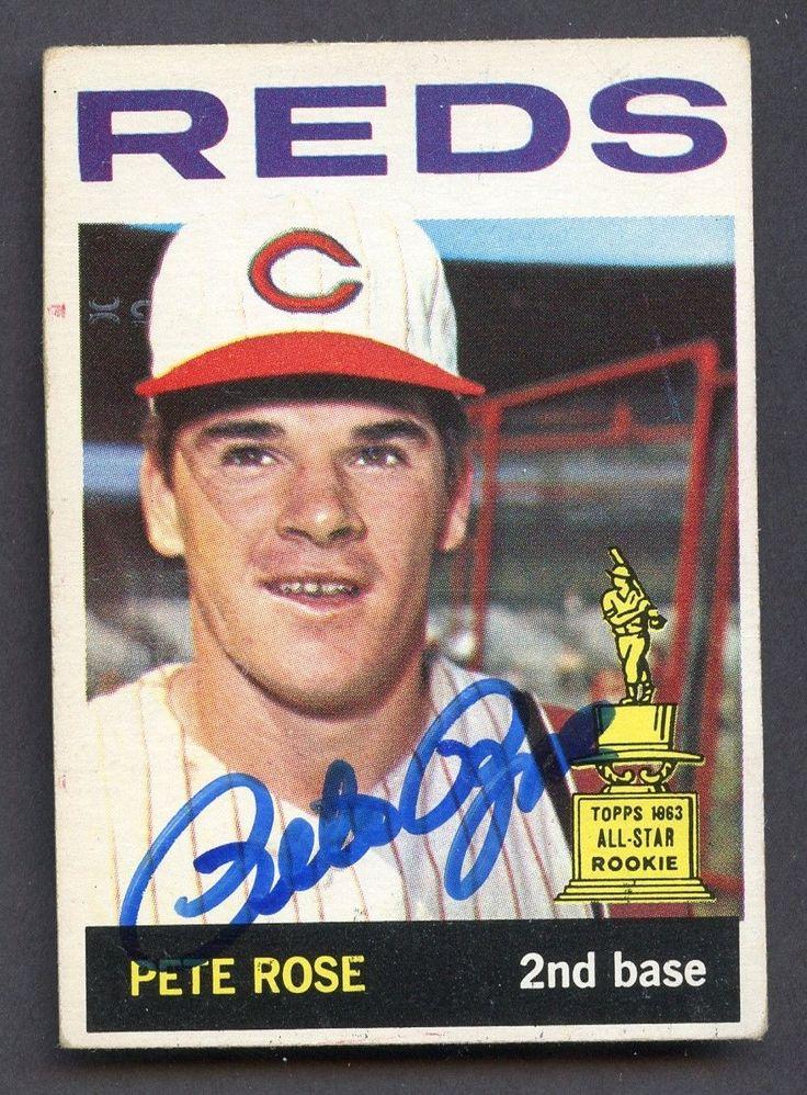 1964 Topps 125 Pete Rose Cincinnati Reds Signed AUTO