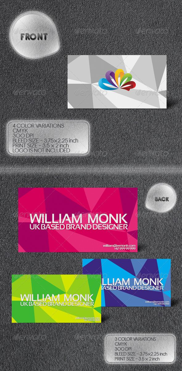 Triangulate business card suitable for media industry ...