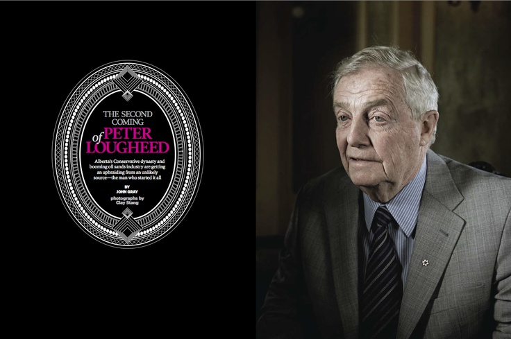 """Gold winner in Portrait #Photography. """"The Second Coming of Peter Lougheed"""" by Clay Stang published in Report On #Business, 2008."""