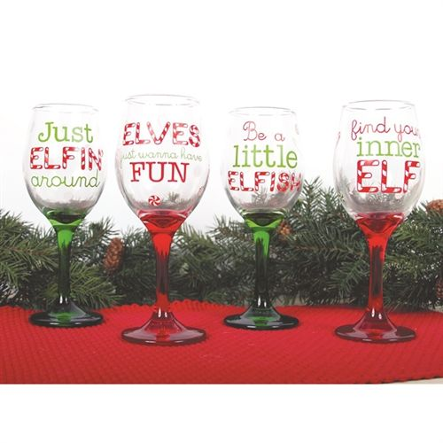 71 best images about holiday wine glasses on pinterest for Christmas painted wine glasses pinterest