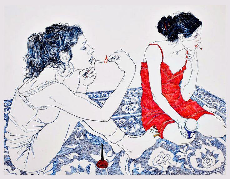 Hope Gangloff - Ballpoint Pen Art - Figurative Painting