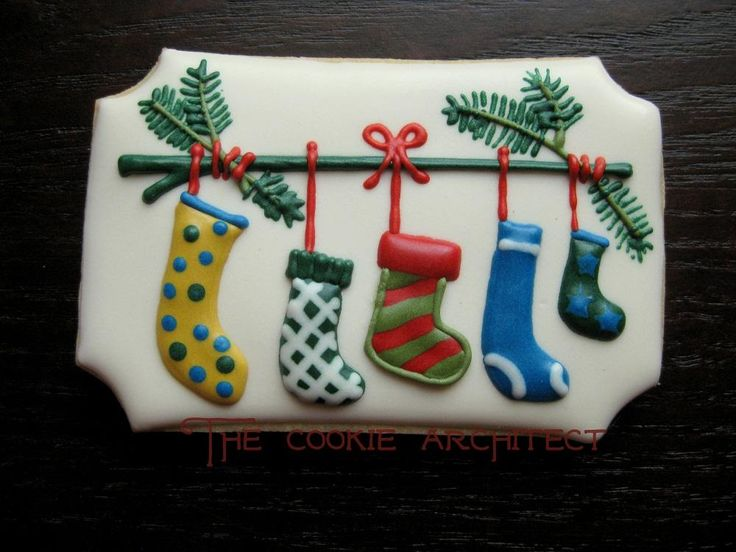 Stocking are Hung | The Cookie Architect | Cookie Connection      RebeccArchitect