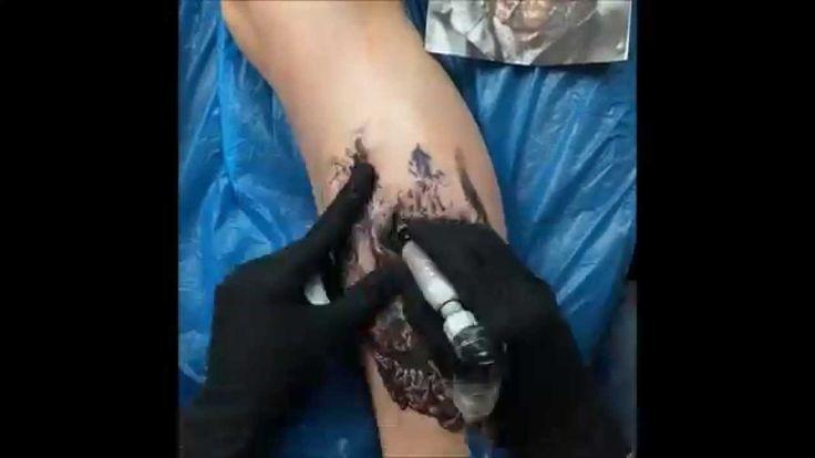 zombie tattoo speed video by gege boristattoo