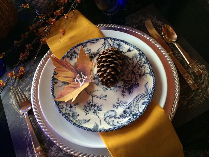 Blue Gold. Thanksgiving TableBlue GoldPine ConesPineconeThanksgiving Table Settings & Best 10 Thanksgiving Table Setting Blue \u0026 Gold images on Pinterest ...