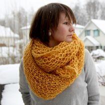 Verdens letteste strikkeoppskrift på luksuriøst strikkasjal