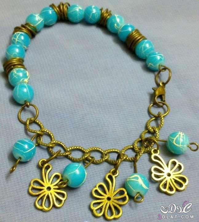 صور اكسسوارات بنات هاند ميد مودرن شيك 2020 Charm Bracelet Turquoise Necklace Jewelry