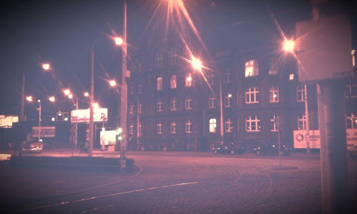Photo Wrocław by Night (Filters Test) RetroEF. by Marcin Kubiś on 500px