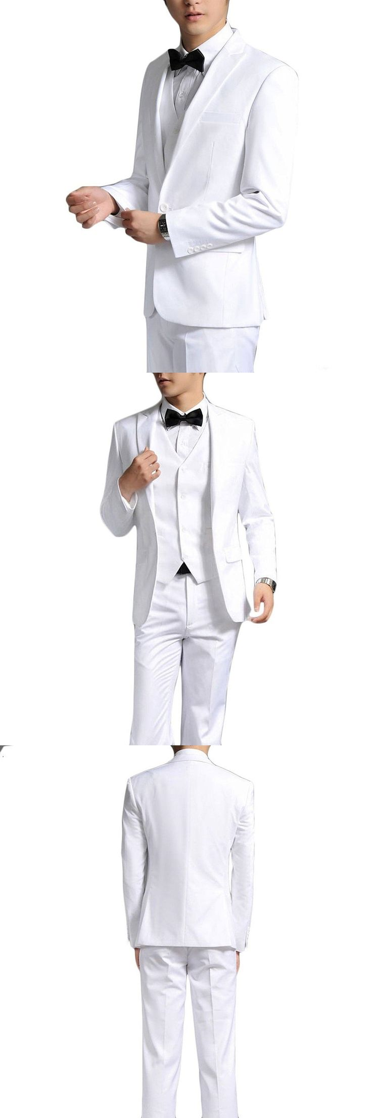 Three Buttons Black Formal Fashion Terno Masculino Notch Lapel High Quality Costume Made 3Pieces(Jacket+Pant+Vest+Tie) Men Suits