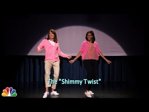 "Michelle Obama And Jimmy Fallon Bring Back ""The Evolution Of Mom Dancing"""
