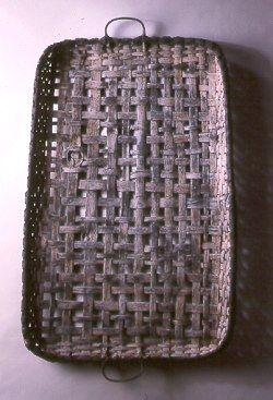 Woven tray with black & white finish (39 x 25 x 2 in) by NY based artisan & basketmaker Jonathan Kline. via Black Ash Baskets