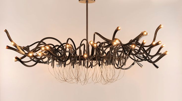 Flut. Hand made murano glass chandelier
