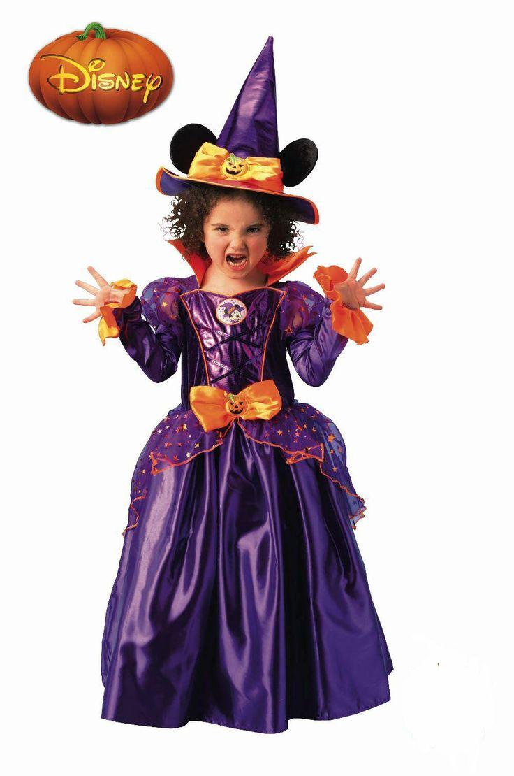 Disfraz niña Bruja Minnie Mouse Disfraz niña bruja Minnie compuesto por vestido y sombrero. Ahora los mas pequeños podrán disfrazrarse este Halloween y asustar a los mayores.