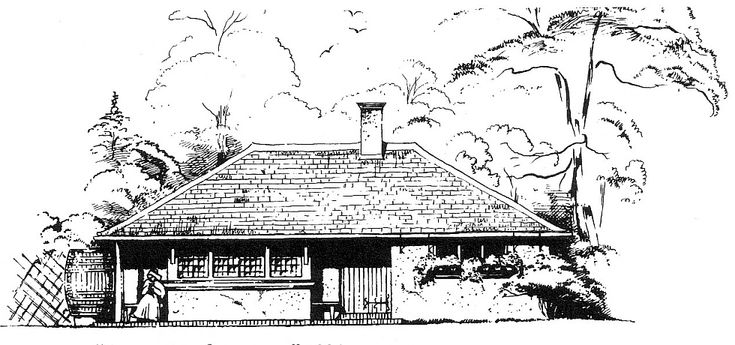1890 Design for a lodge for a Manchester suburb. Cottage Architecture.