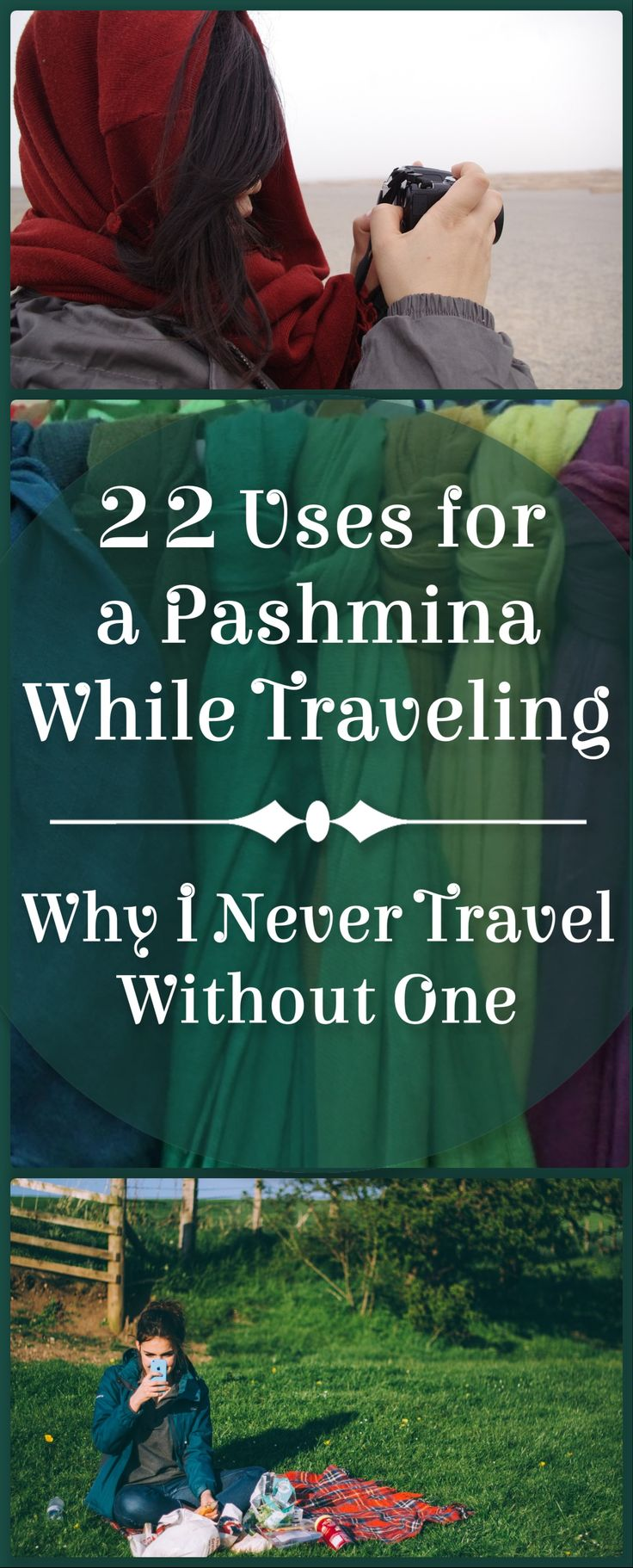 A pashmina is one of the most versatile items you can have while traveling. Call it a pashmina, large scarf, sarong, shawl, whatever you want. A pashmina is a must-have travel item that I simply cannot travel without. When not in use, I wear my pashmina tied to my bag for a pop of color (my favorite is teal). I ... [Read more...]