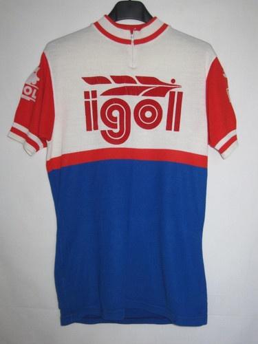 Maillot cycliste vintage IGOL Motor Oil Pop 70'S ancien - M