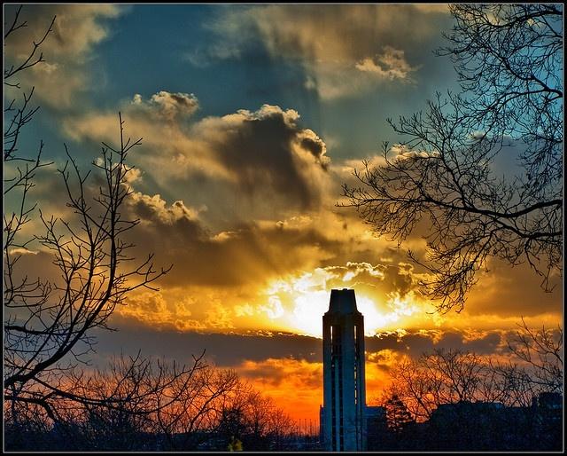 CampinileKansas Jayhawks, Alma Mater, Campanile Sunris, Chalk Jayhawks, University Of Kansas, Rocks Chalk, Beautiful Places, Rock Chalk, Rockchalk