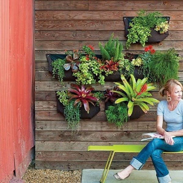 DIY Living Wall Planter Ideas Wall Mounted Pocket Planters Patio Decor Ideas