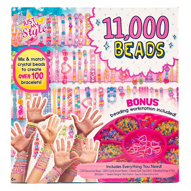 Amazon.com: Just My Style 11,000 Beads by Horizon Group USA: Toys & Games