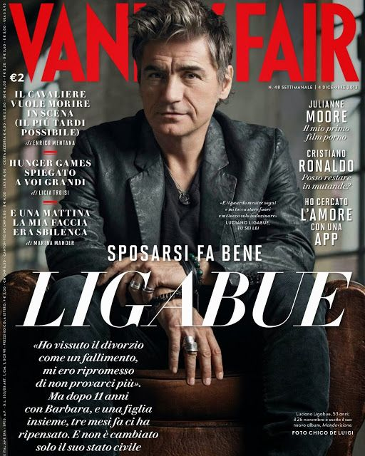 Luciano Ligabue para Vanity Fair Italia Noviembre 2013 | Male Fashion Trends