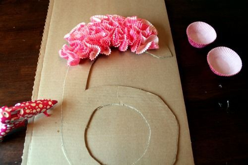 How To Make A Cupcake Wrapper Door Number