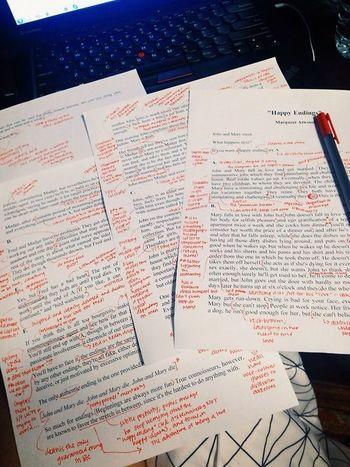 こちらも赤ペンでの書き込みだけのシンプルなプリント。