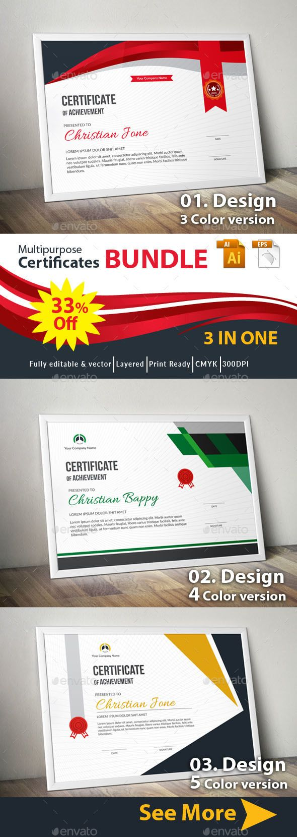 #Certificate - Certificates Stationery Download here: https://graphicriver.net/item/certificate/19552633?ref=alena994