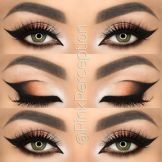 Looking for more examples of perfect winged eyeliner I found this. Love it <3: