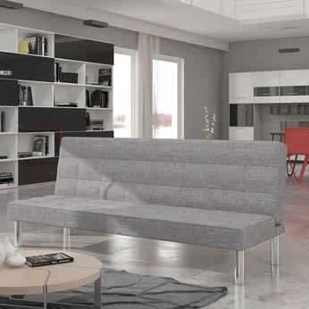 Banquette clic clac gris en tissu | Sofamobili