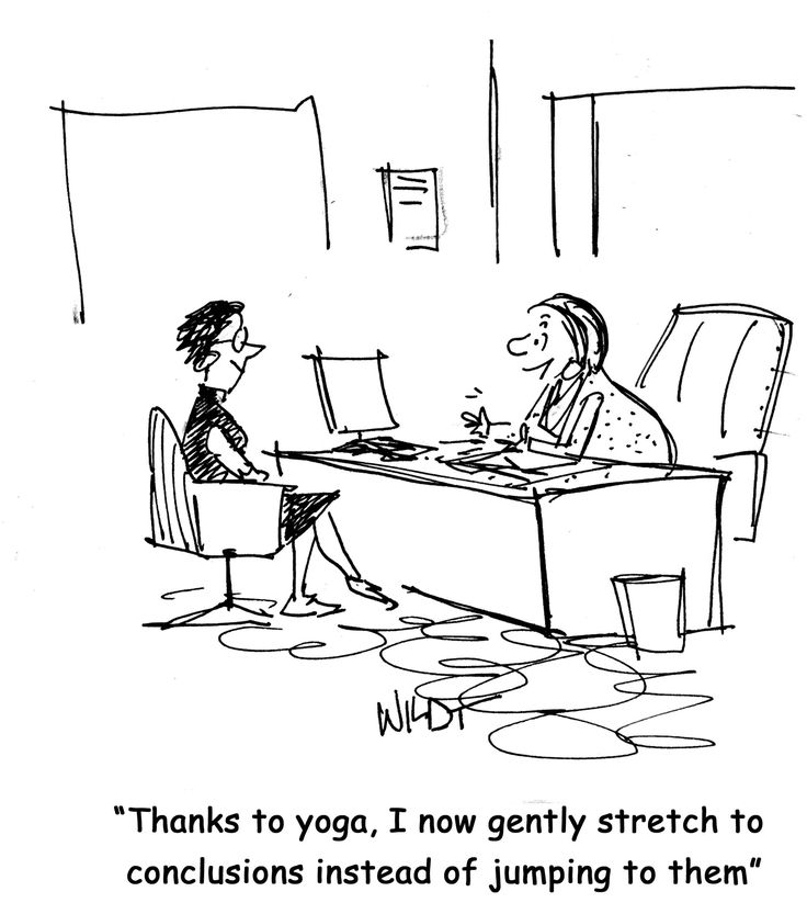 Yoga Cartoon | Today, I will continue talking about yoga, but I will switch gears and ...