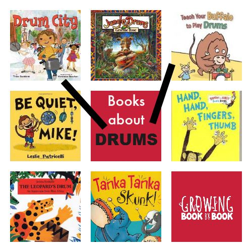 Books for kids about drums from growingbookbybook.com