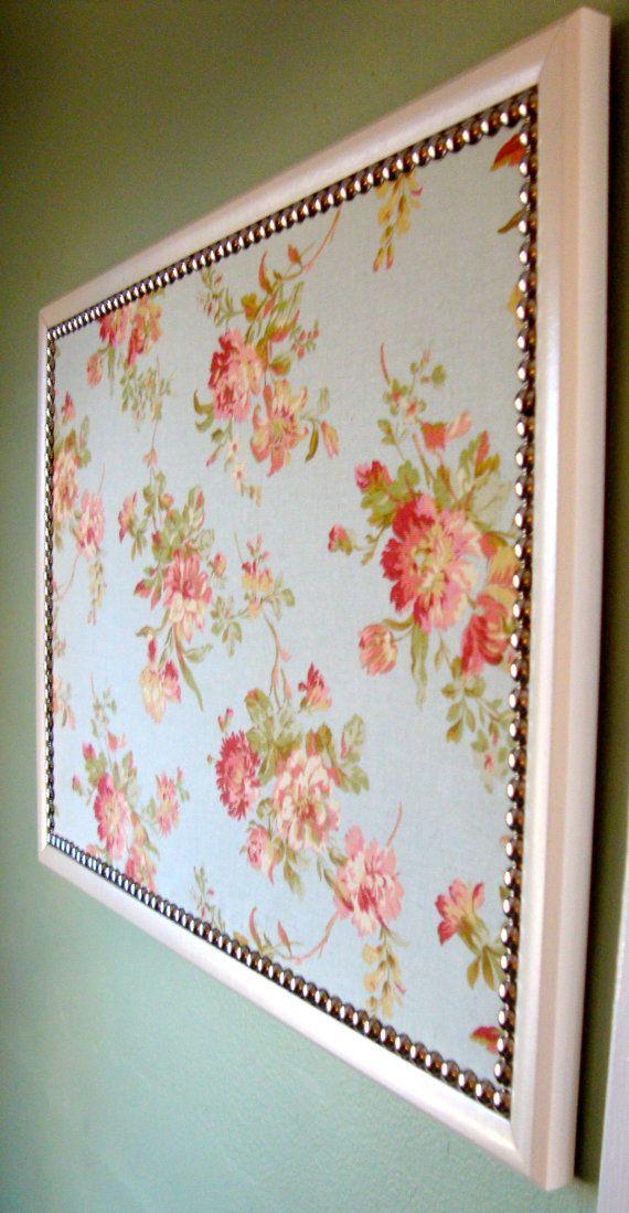 Bulletin board - floral pattern