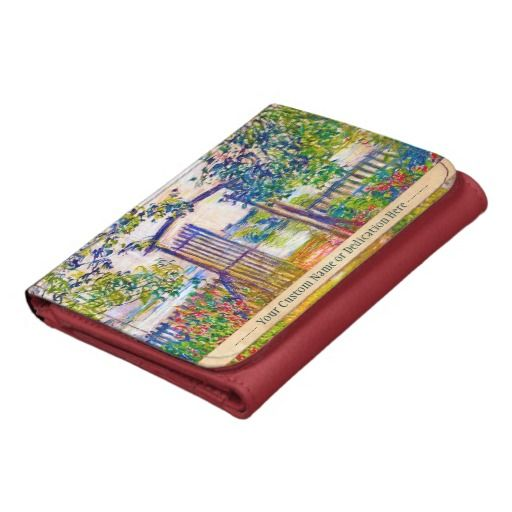 The Garden Gate at Vetheuil Claude Monet painting Trifold Wallet