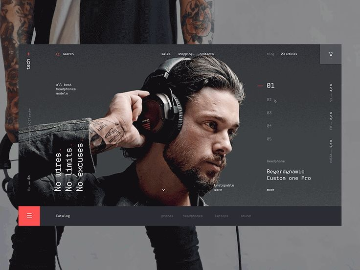 tech+ — ecommerce webdesign by Kirill Kim
