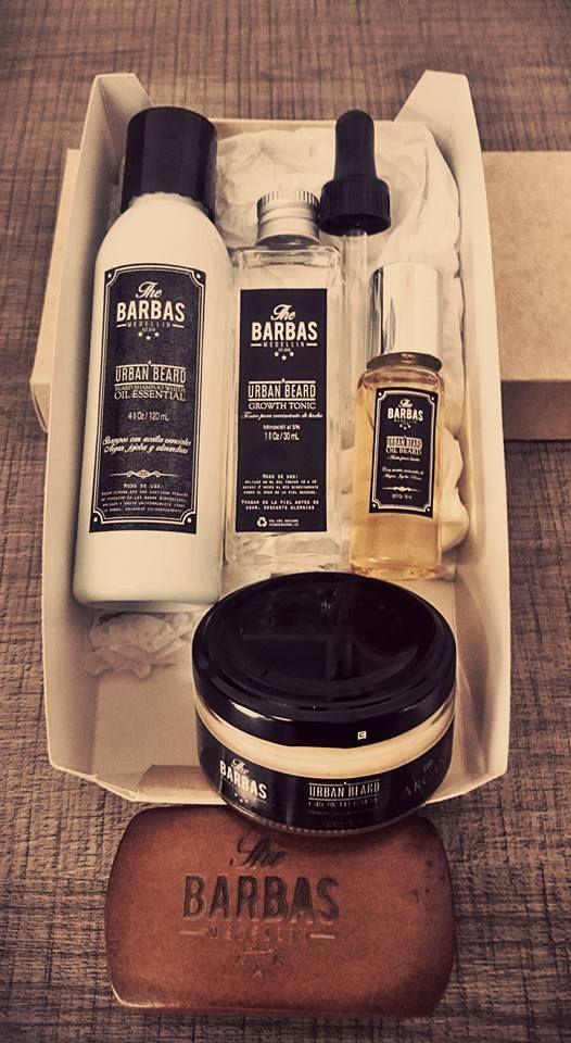 Kit Cepillo básico, Tónico, Shampoo, Aceite, y Bálsamo de la línea Urban Beards