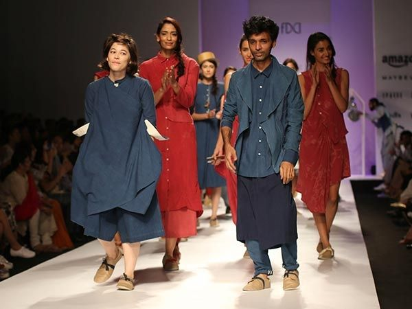 Simple & elegant Khadi collection by 11.11/Eleven Eleven at ‪#‎AIFWSS16‬! Take a look.