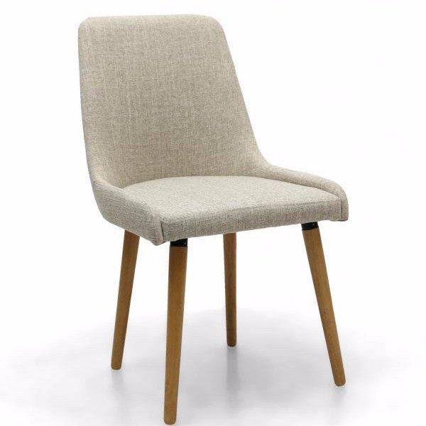 retrosit capri dining chair natural pair fabric dining - Fabric Dining Chairs