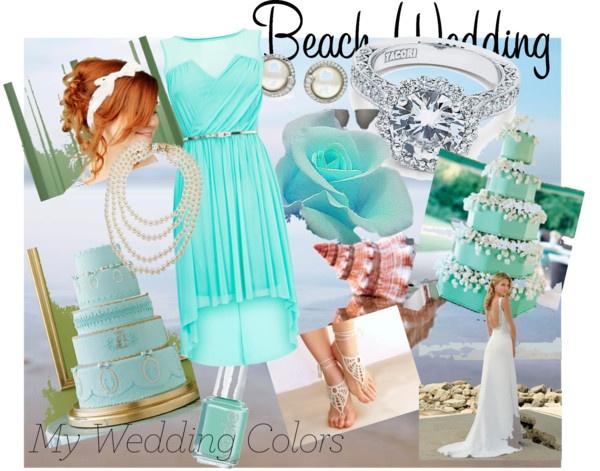 Aqua Love, created by kailan-white on Polyvore