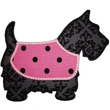 Scottie Dog Applique - Applique Embroidery Designs and