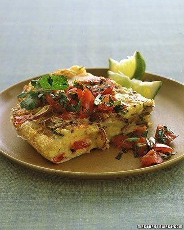 Mexican Potato Omelet Recipe