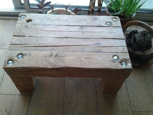 Coffee table made with reclaimed wood