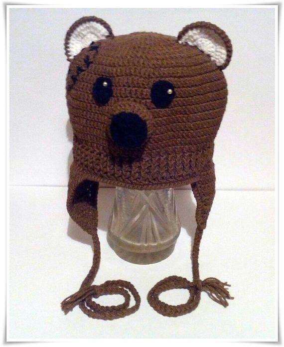 Fantastic Hat Teddy bear Preemie Knitted Hat Gift for Newborns