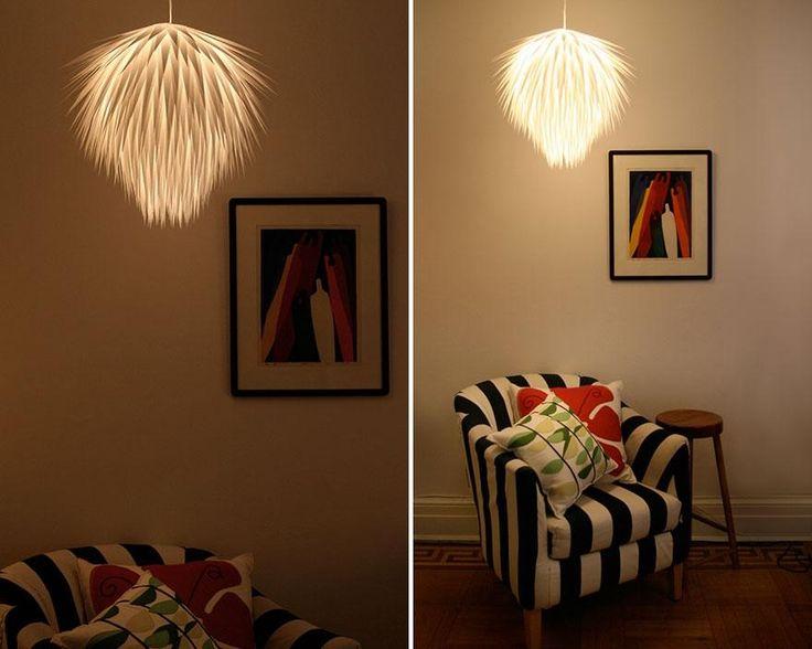 Hur gör man en egen lampskärm lätt? Taklampor, ljuskronor, återvunnet, rislampa och papper