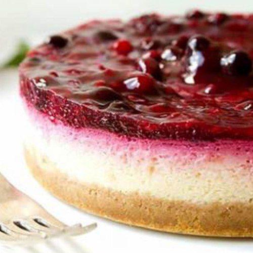 Receita Cheesecake de frutas vermelhas