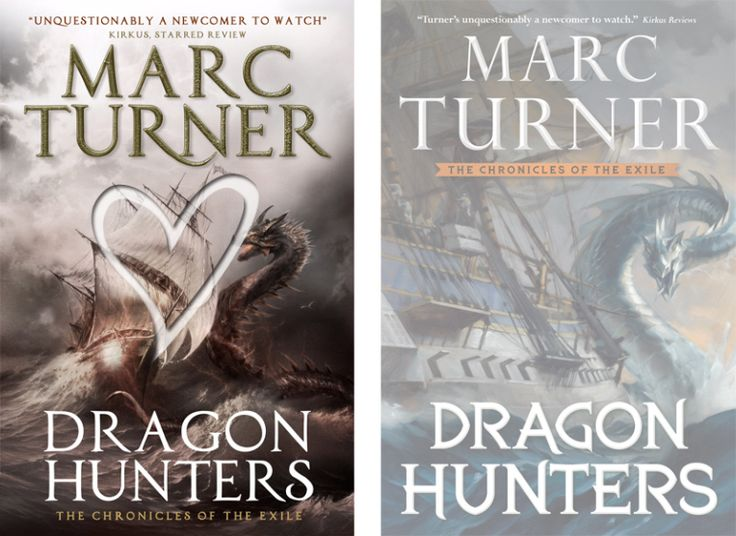 Books by Proxy | The Friday Face-Off - Dragon Hunters by Marc Turner UK vs US Cover winner